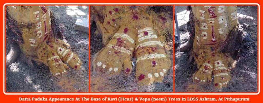 Datta Paadukala Appearance At Gopal Baaba Ashram - Pithapuram