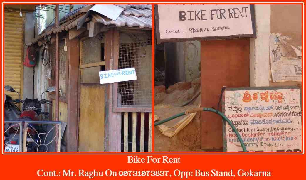 Bike For Rent Gokarna
