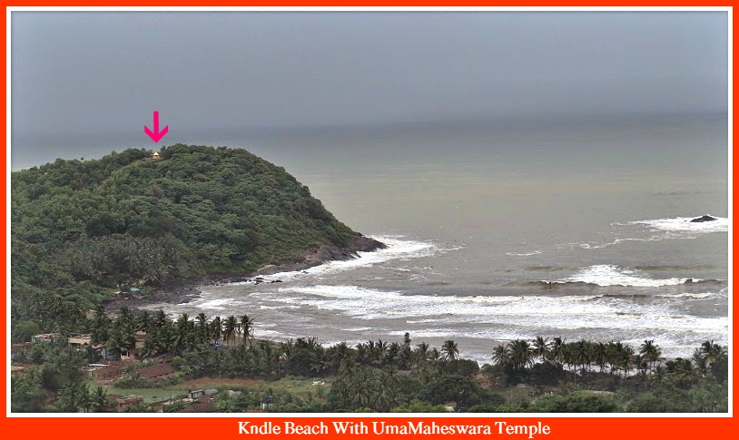 Kndle Beach With UmaMaheswara Temple