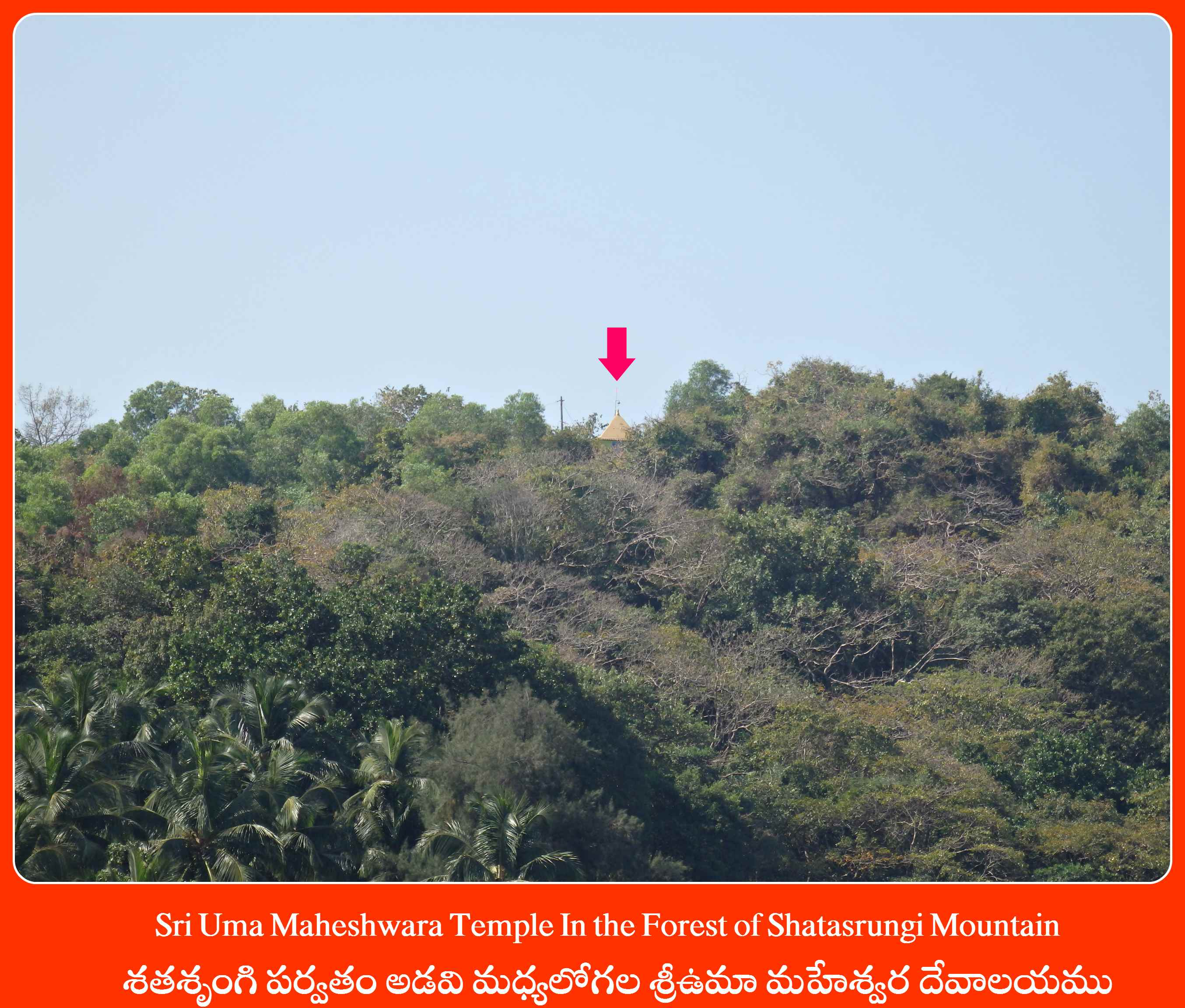 Sri Uma Maheshwara Temple In the Forest of Shatasrungi Mountain