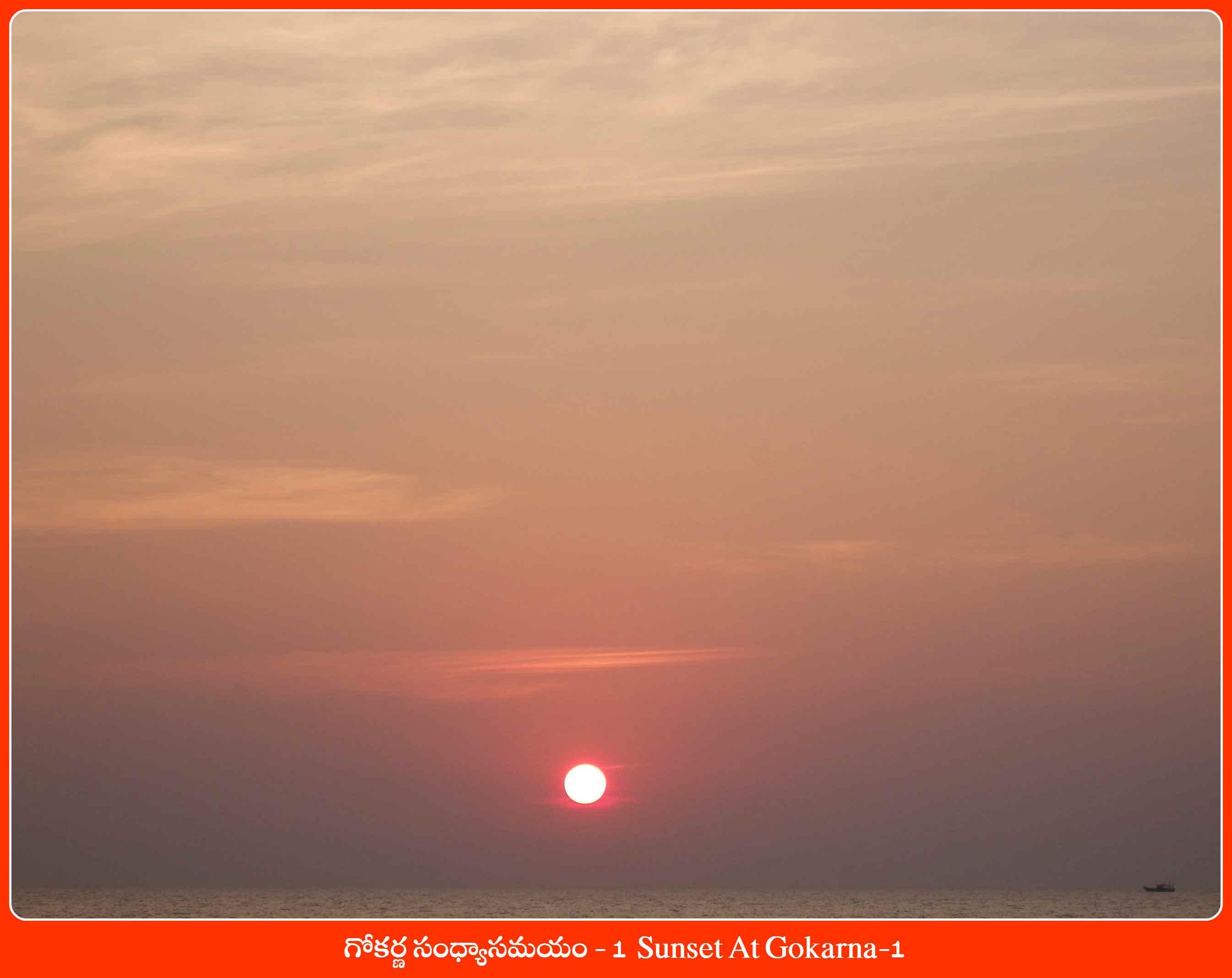 Sunset At Gokarna-1