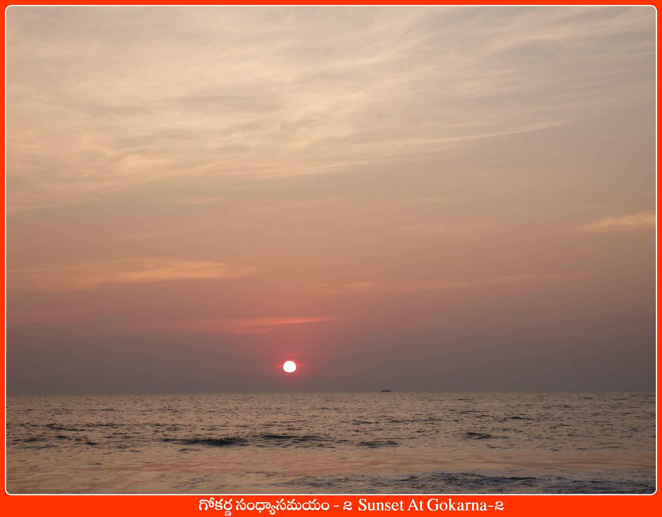 Sunset At Gokarna-2